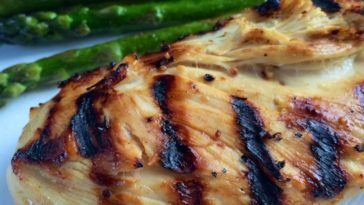 Sweet and Sour grilled chicken breasts