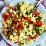 Grilled Corn Salad Recipe with a Tangy Lime Vinaigrette recipe #grilling #corn #salad #summer #recipe