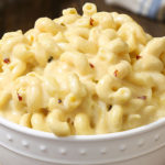 Slow Cooker Triple Cheesy Mac and Cheese Recipe - Recipes A to Z #slowcooker #slowcookerrecipes easy slow cooker pasta recipes #pasta #pastarecipes easy mac and cheese #maccheese #macandcheese #cheese