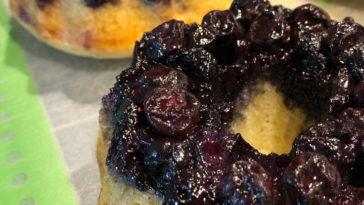 Blueberry Upside-Down Mini Cakes Recipe