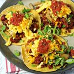 Chorizo Breakfast Tacos with Potato Hash and Eggs Recipe - Easy Recipes A to Z #recipesaz #recipes #recipe #easyrecipes #chorizo #breakfast #breakfastrecipes easy breakfast recipes tacos #breakfastideas easy breakfast ideas #taco #tacos #tacosrecipes easy tacos recipes #potato #hash #eggs