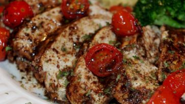 Roasted Balsamic Chicken with Baby Tomatoes Recipe