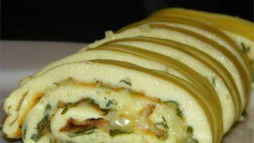 Baked Omelet Roll Recipe