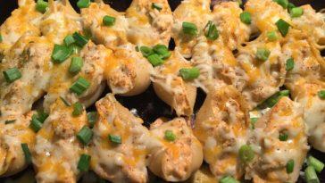 Buffalo Chicken Stuffed Shells Recipe