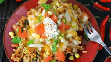 Cheesy Pork Taco Rice Recipe