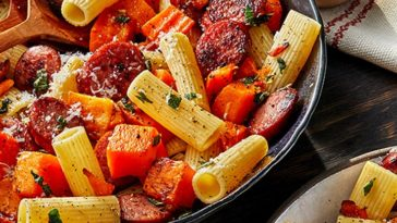 Smoked Sausage and Butternut Squash Pasta Recipe
