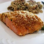 Baked Salmon Fillets Dijon Recipe - Delicious baked salmon coated with Dijon-style mustard and seasoned bread crumbs, and topped with butter. #baked #salmon #salmonfillets #bakedsalmon #bakedsalmonfillets #salmonrecipe #salmonrecipes #recipes