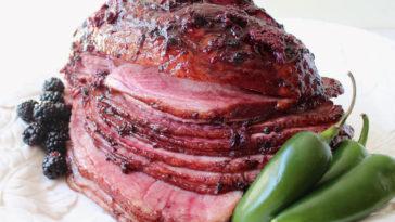 Blackberry Jalapeno Glazed Ham Recipe