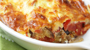 Cheesy Eggplant Casserole Recipe