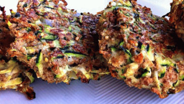 Crunchy Zucchini Fritters with Avocado Dip