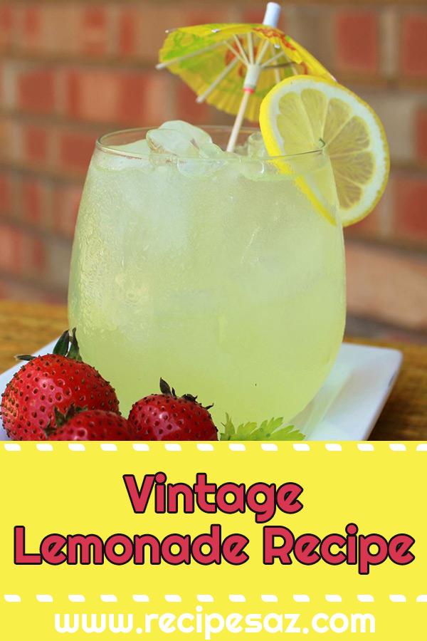 Vintage Lemonade Recipe