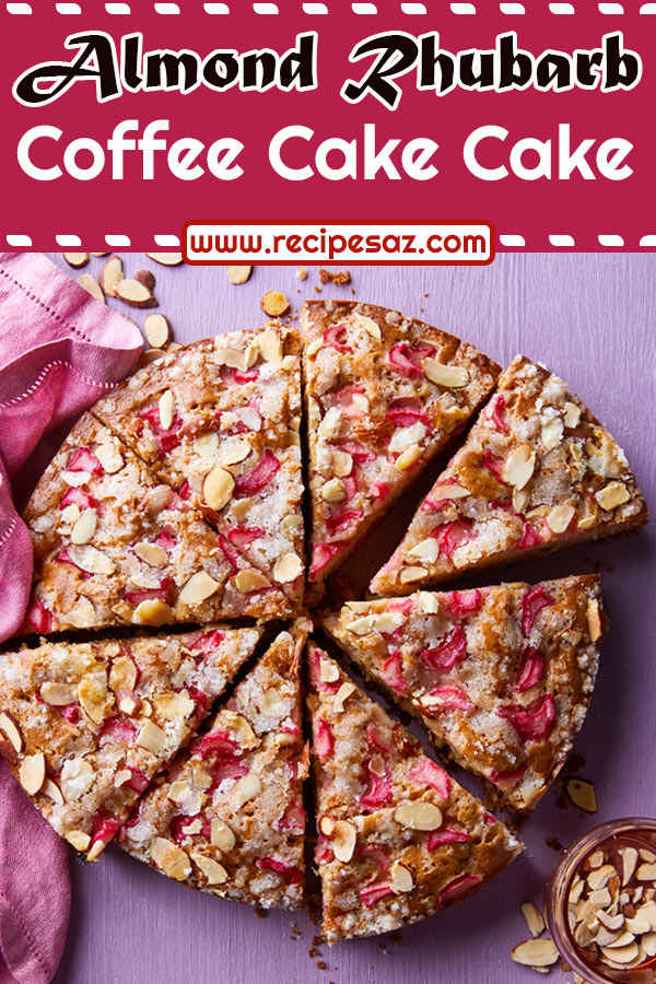 Almond Rhubarb Coffee Cake Recipe