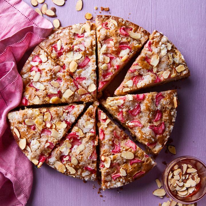 Almond Rhubarb Coffee Cake Recipe