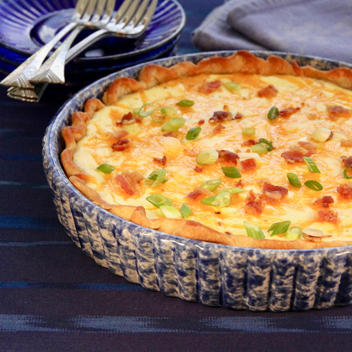 Bacon, Cheese, and Caramelized Onion Quiche Recipe