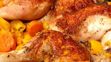 Braise-Roasted Chicken with Lemon and Carrots Recipe