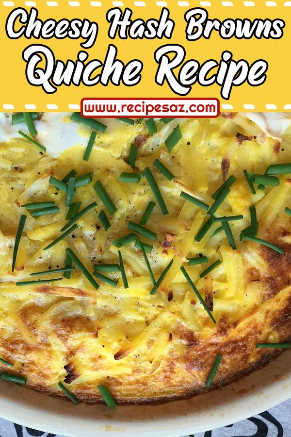 Cheesy Hash Browns Quiche Recipe