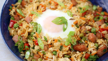 Ham Fried Rice with Eggs Recipe
