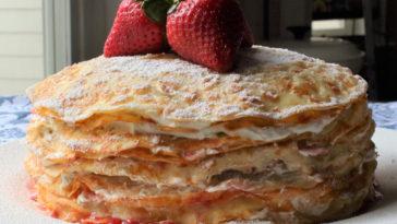 Strawberry Crepe Cake Recipe
