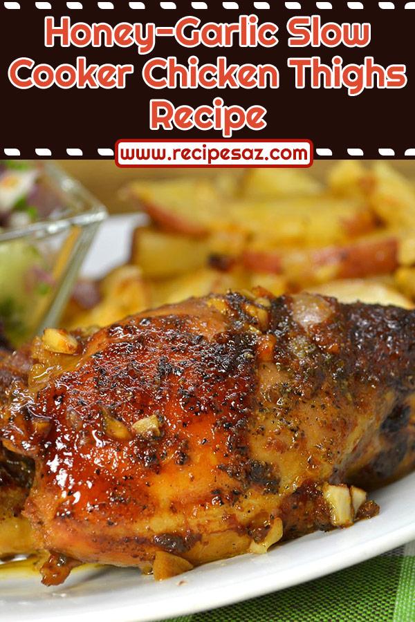 Honey-Garlic Slow Cooker Chicken Thighs Recipe