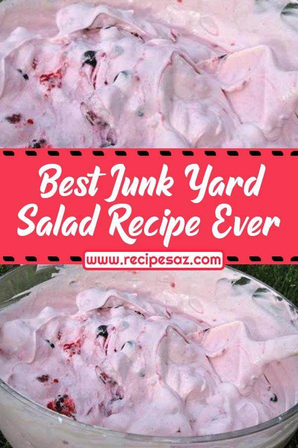 Best Junk Yard Salad Recipe Ever #junkyard #salad #junkyardsalad #saladrecipes #saladrecipes #bestsaladrecipe #recipes #bestrecipes