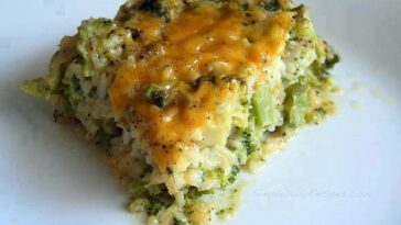 Cheesy Broccoli and Rice Casserole Recipe #cheesy #broccoli #rice #casserole #cheesyrecipes #broccolirecipes #ricerecipes #broccolicasserole #ricecasserole #casserolerecipes #recipes #recipesaz