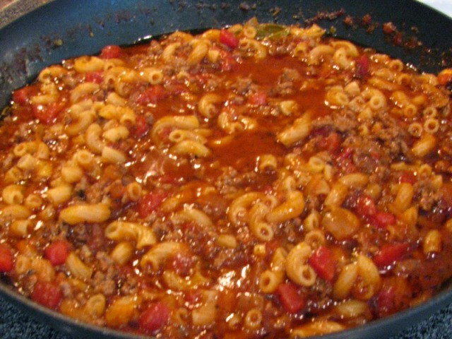 Cheesy Beef Goulash Recipe
