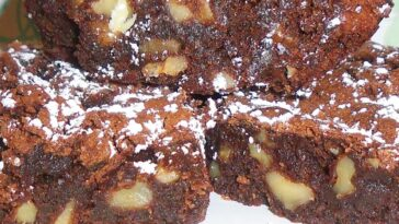 Fudge Walnut Brownies Recipe