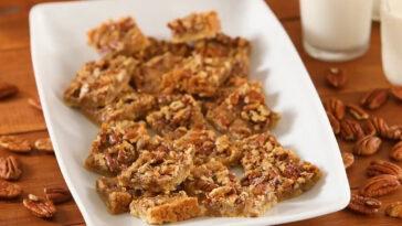 Maple Pecan Shortbread Squares Recipe