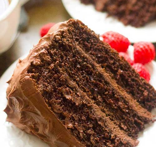 Chocolate Mocha Layer Cake Recipe